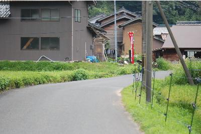 栃谷区から甲坂区に向かう道