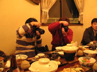 撮影する二人