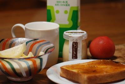 ゆっくりモードで朝食