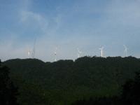 太鼓山の風力発電所